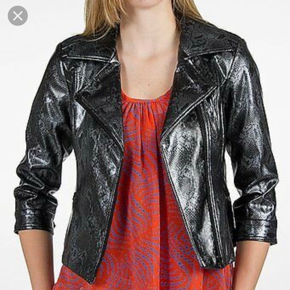 1e6923ca4a63 BKE Buckle Snake Print Faux Leather Moto Jacket L. BKE.  M_5c6db06b04e33d1b5cca99e4. M_5c6db06ec9bf50dc7a6247cc.  M_5c6db070534ef9edbb885e45